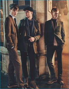 Ben Sherman delivers a glimpse of London style for its fall-winter 2016 campaign. Enlisting a trio of male models, Linus Wordemann, Ivan Kozak… Christopher Campbell, Reebok, The Fashionisto, Dapper Men, Ben Sherman, Lifestyle Clothing, British Style, London Fashion, Male Models