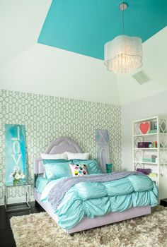 House of Turquoise: Karen B. Wolf Interiors - turquoise and purple