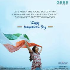 Team GEBE  Wishes you all A Very Happy Independence  Day !! #gebe #independance #day #gebeteam #wishes #soldiers  #national #freedom #furnitureoutdoor  #india 15 August Independence Day, Exhibitions, Soldiers, Freedom, Outdoor Furniture, Liberty, Political Freedom, Backyard Furniture, Lawn Furniture