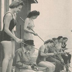 Stiltsville: Fishing off the Quarterdeck Club circa 1940