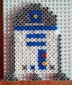 R2D2 Star Wars hama perler beads by Deco.Kdo.Nat