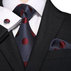 Blue and Burgundy Silk Necktie Set JPM18E06 - Toramon Necktie Company