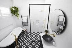 Room Ideas: Tile inspiration for bathrooms, kitchens, living rooms & The Block Bathroom, Baby Bathroom, Small Bathroom, The Block Australia, Bathroom Drawing, Beaumont Tiles, Bathroom Photos, Bathroom Ideas, Bathroom Stuff