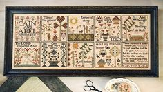 Brother's Keeper : Plum Street Samplers Paulette Stewart cross stitch patterns Cain and Abel embroidery by thecottageneedle
