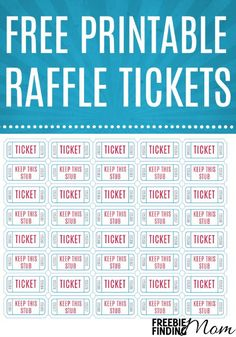 Free Printable Raffle Tickets  Free Numbered Raffle Ticket Template