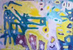 """""""Pintura 158"""" Óleo sobre cartulina 34 x 49 cms 2006"""