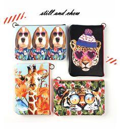 [바보사랑] 훔치고싶다..이 일러스트 /파우치/가방/일러스트/패션가방/스틸앤츄/개/치타/기린/호랑이/스타일/메이크업파우치/Pouch/Bag/Illustrations/Fashion Bags/stillandchew/Dog/cheetah/giraffe/Tigers/Style/make-up pouch