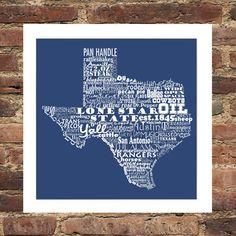 Items similar to Texas State Art Texas Word Art Typography Print Texas Print Texas Poster The Lone Star State Typography Art Texas Pride Texas Our Texas on Etsy Loving Texas, Texas Pride, Texas History, Texas Travel, Typography Prints, State Art, Word Art, Framed Prints, My Love
