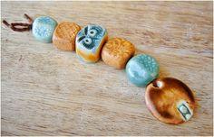 """Conjunto de cerámica """"  canela- turquesa """" de MAJOYOAL por DaWanda.com"""
