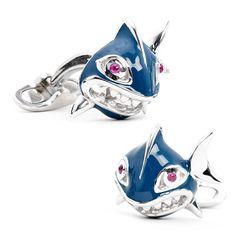 Handcrafted Italian Shark Cufflinks