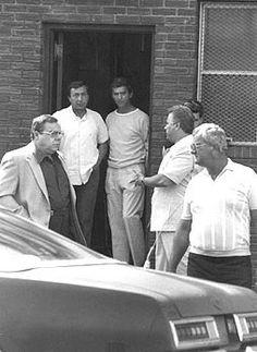 "(left to right) Angelo ""Quack, Quack"" Ruggiero, two unknown males, John ""Johnny Boy"" Gotti, Peter Gotti"