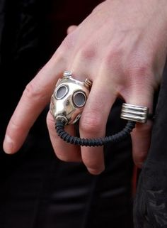 Gas mask ring  If you know me, then I think yoyo know why I would want this. One question, are you my mummy?