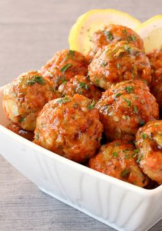 Honey Glazed Salmon Meatballs, made with fresh salmon and baked - a healthy low carb appetizer!