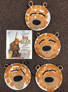Sleep Big Bear art and response Bear Crafts Preschool, Fall Preschool, Preschool Themes, Toddler Crafts, Preschool Activities, Bar Kunst, Teddy Bear Day, Teddy Bears, Classroom Art Projects