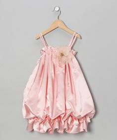 Take a look at this Pink Satin Bubble Dress - Toddler & Girls by Kid's Dream on #zulily today!