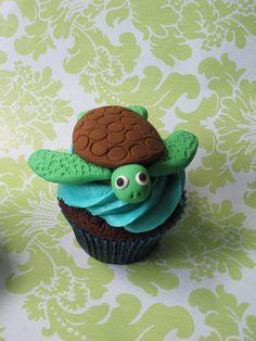 Sea Turtle Cupcake by Caroline'sCreations, via Flickr