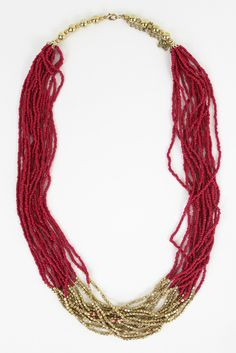 Gold Dip Beaded Layer Necklace | Moorea Seal