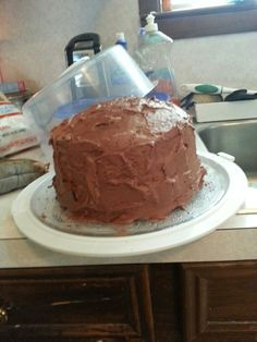 3 layer chocolate cake for Halloween party tomorrow at CCNA