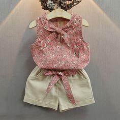 Set Clothes Girl Baby Suits Kids T Shirt +Pants