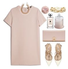 """""""champagne pink"""" by stephanienora ❤ liked on Polyvore"""