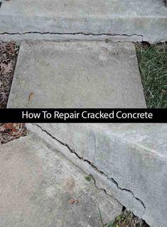 How To Repair Cracked Concrete - LivingGreenAndFrugally.com