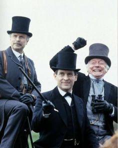 """Silver Blaze"" The Return of Sherlock Holmes, Granada TV, Jeremy Brett Sherlock Holmes, Detective Sherlock Holmes, Adventures Of Sherlock Holmes, Sherlock Pipe, Sherlock Bbc, Safari, David Burke, Famous Detectives, 221b Baker Street"