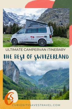 The ultimate Switzerland Road Trip Interary for Campervans Road Trip Europe, European Road Trip, European Vacation, Europe Travel Guide, European Travel, Travel Destinations, Road Trip Hacks, Camping Hacks, Road Trips
