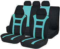 Car Seat Covers Airbag Safe Universal Fit by Autoanyway Full Set 11pcs ACSC1606Green Mint Color *** You can get additional details at the image link.Note:It is affiliate link to Amazon.