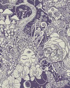 D e l a n e y s a v a n n a h (cool sketches backgrounds) Art And Illustration, Illustrations, Character Illustration, Kunst Inspo, Art Inspo, Mundo Hippie, Frida Art, Psychedelic Art, Pics Art