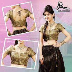"Black Navratri Ready Made Padded Saree Blouse. ""Ra apparels"" launched by MuHeNeRa Ra 41"