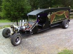 1922 Ford Hearse Rat Rod started life as a 1922 Ford Truck. Chevy 305 engine, 350 transmission.
