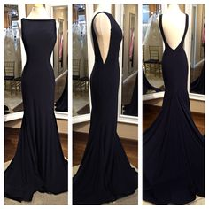 A very classy, elegant look for any occasion. Jovani 38592 in Navy, Red, Burgundy, Royal and Blush.