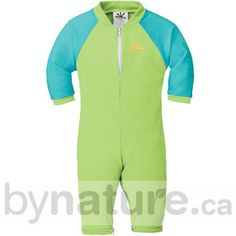 Non-Toxic Sun Protection Suit, Lime/Aqua