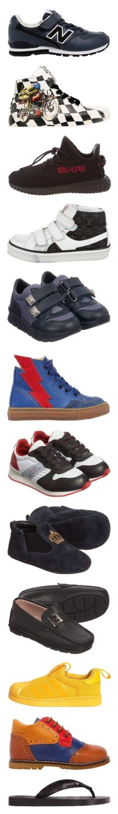 """""""Kids/baby shoes for boys"""" by julieselmer ❤ liked on Polyvore featuring navy, white, black, royal blue, yellow, multicolor, green, red, shoes and sneakers"""