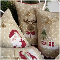 puntocroce e fantasia: ornaments de noel - 1