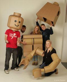 Cardboard Lego man