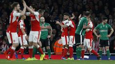 Arsenal ease pressure on Wenger City stroll into semi-finalsSee full details