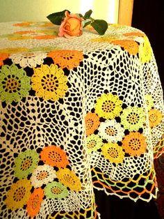 Crochet tablecloth Crochet round doily Lace crochet Lace table