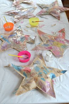make puffy paper stars with the kids