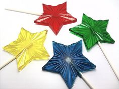 Buy 6 Get 6 Free  BEAUTIFUL RADIANT STAR Lollipops by CandiedCakes, $9.99