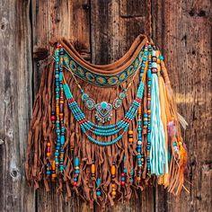 Small leather boho hippie fringe bag with tassels, festival tribal style crossbody bag, gypsy boho bags and purses – 2019 – Bag Diy – Purses And Handbags Boho Gypsy Style, Boho Gypsy, Hippie Style, Tribal Style, Fringe Purse, Fringe Bags, Hippie Bags, Boho Bags, Gypsy Bag
