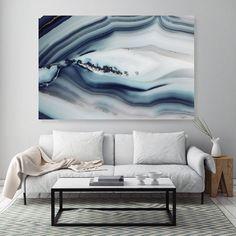 Mineral Photography - (Print #009) Navy Blue Agate Slice - Fine Art Print