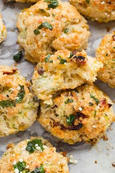 Quick and easy drop biscuits filled with cheddar cheese, zucchini, and sun-dried tomatoes. This easy drop biscuit recipe is great for a dinner party or afternoon picnic. It comes together in a snap. Tasty Bread Recipe, Quick Bread Recipes, Biscuit Recipe, Side Dish Recipes, Baking Recipes, Milk Recipes, Healthy Recipes, Side Dishes, Easy Drop Biscuits