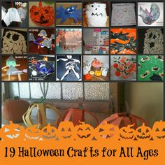 19 of our best pumpkin, bats, ghost and other #Halloween crafts for kids of all ages.