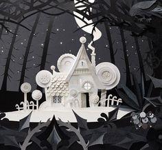 Paper art by Helen Musselwhite 3d Paper Art, Paper Artwork, Paper Book, Paper Drawing, Kirigami, Paper Cutting, Cut Paper, Papier Diy, Creation Art