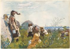 Homer, Winslow American, 1836 - 1910 Berry Pickers 1873