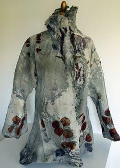 Brita Stein felted jacket eco dyed.