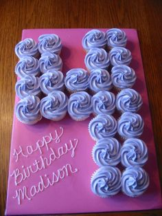 Love the number in cupcakes. No need to worry about cutting cake. 2 for Gray's 2nd birthday?