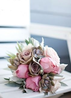 soft pink #natural wedding bouquet