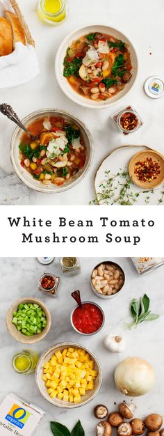White Bean Tomato Mushroom Soup Recipe